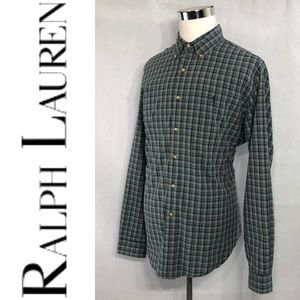RALPH LAUREN Classic Fit Plead Checks Dress Shirt